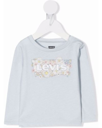 Niebieska T-shirt z nadrukiem z printem Levis Kids