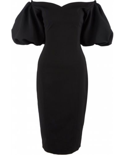 Облегающее черное платье миди Love Republic
