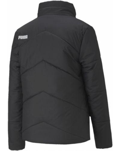 Тонкая черная куртка с надписью Puma