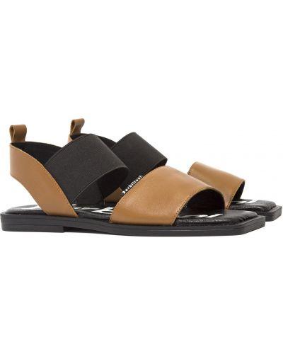 Кожаные сандалии - черные Barbilioni
