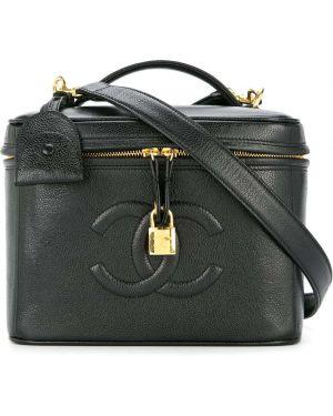 Futerał kosmetyczny czarny Chanel Pre-owned