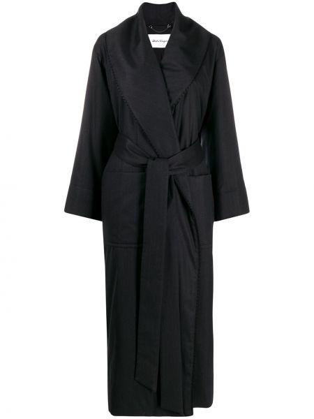 Шерстяное длинное пальто оверсайз с капюшоном Salvatore Ferragamo