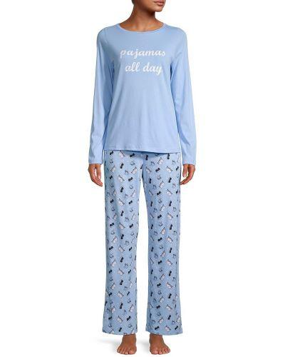 Хлопковая пижама с длинными рукавами для сна Cosabella