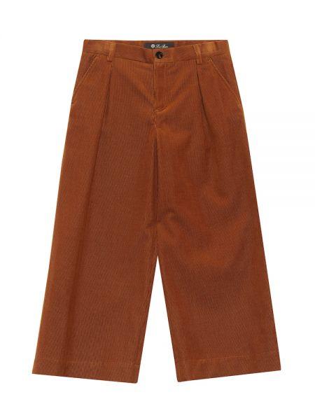 Bawełna bawełna brązowy spodnie Loro Piana Kids