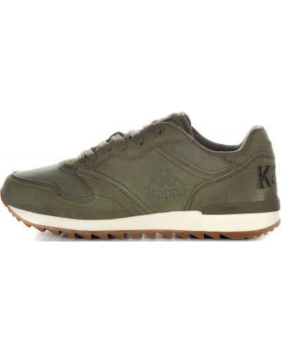 Кроссовки на шнуровке зеленый Kappa