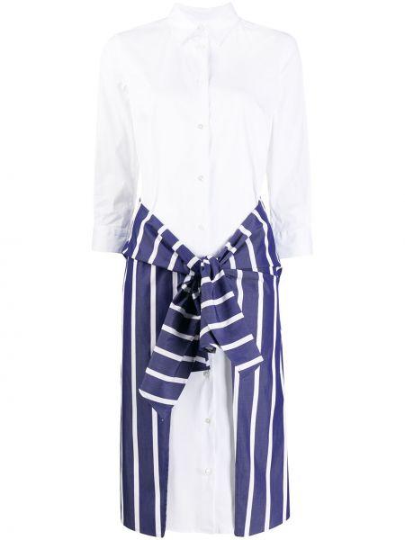 С рукавами белое платье миди на пуговицах с воротником Sara Roka