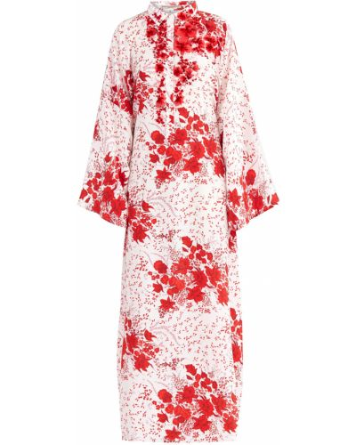 Платье макси с цветочным принтом на пуговицах Ermanno Scervino