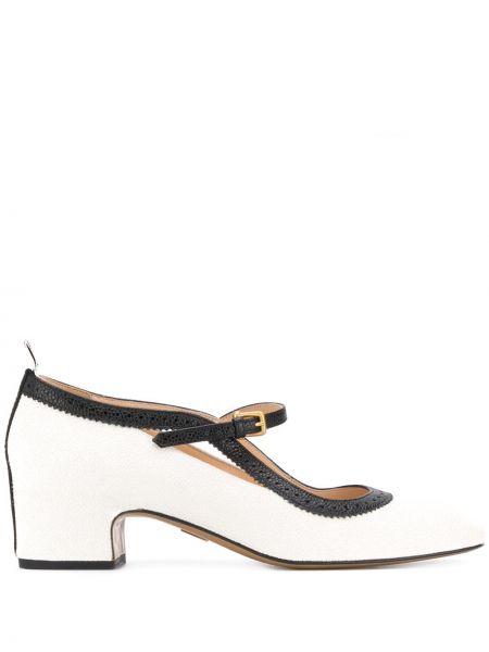 Buty brogsy skórzany czarny Thom Browne