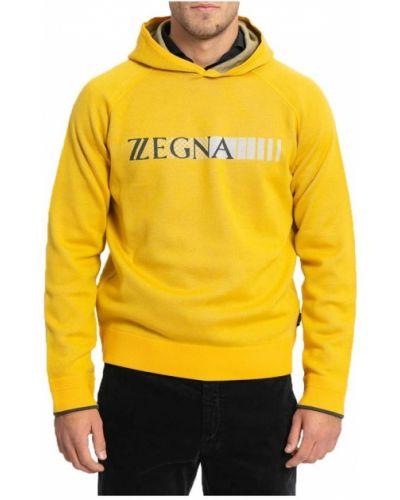 Żółta bluza z printem Z Zegna