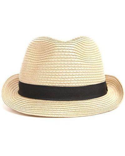 Бежевая льняная шляпа Melissa Odabash