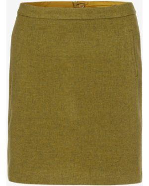 Ciepła zielona spódnica mini Marie Lund