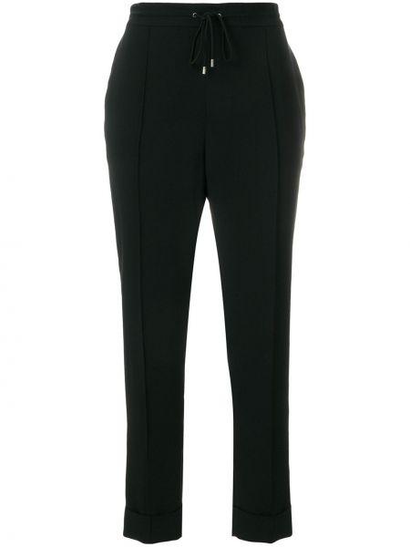 Черные укороченные брюки с поясом с отворотом Kenzo