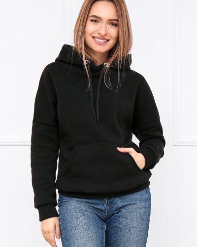 Флисовое худи - черное Fashion Girl