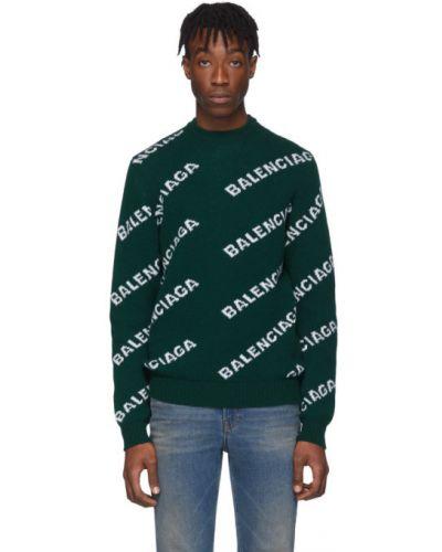 Sweter z kołnierzem wełniany Balenciaga