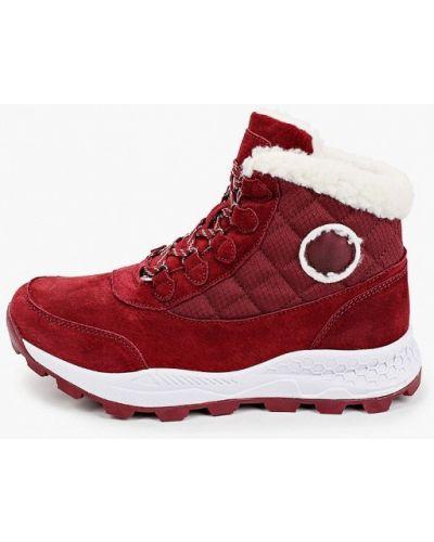 Велюровые красные ботинки Escan