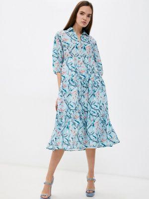 Прямое платье - голубое Vis-a-vis