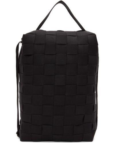 Z paskiem czarny włókienniczy plecak na paskach Issey Miyake Men