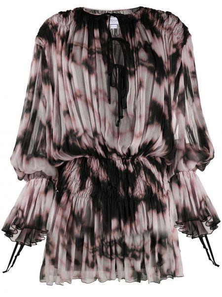Розовое платье с рисунком с вырезом эластичное Redemption