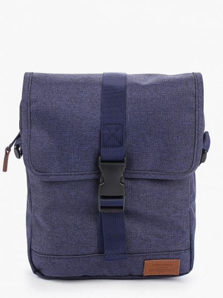 Мерцающая синяя текстильная сумка через плечо Springfield