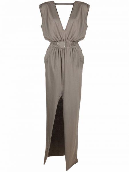 Платье макси длинное - коричневое Rick Owens Drkshdw