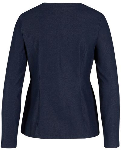 Трикотажный пиджак - голубой Bonprix
