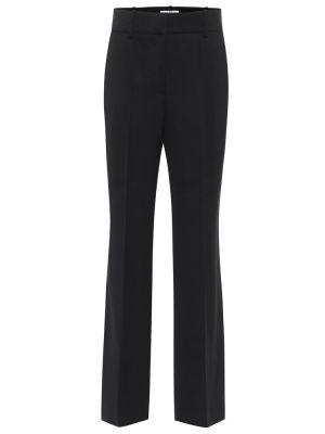 Prosto czarny wełniany klasyczny klasyczne spodnie Givenchy