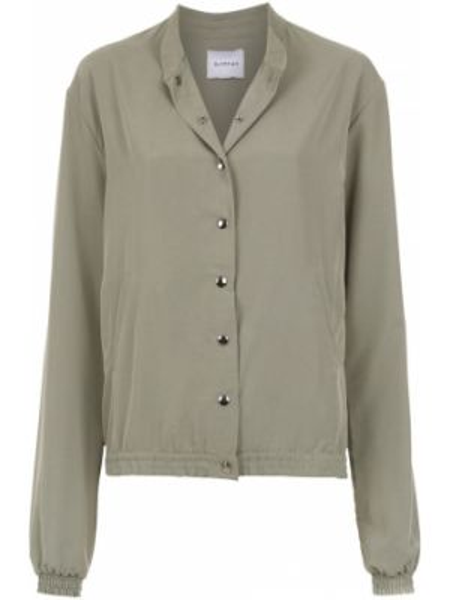 Классическая оливковая длинная куртка Olympiah