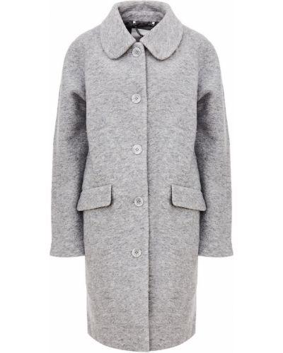 Серое пальто на пуговицах Ichi
