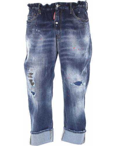 Niebieskie jeansy zimowe Dsquared