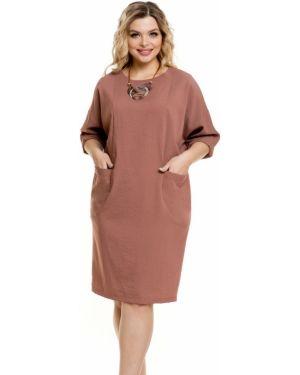 Повседневное платье платье-сарафан с воротником Novita