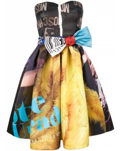 Платье с принтом расклешенное Moschino