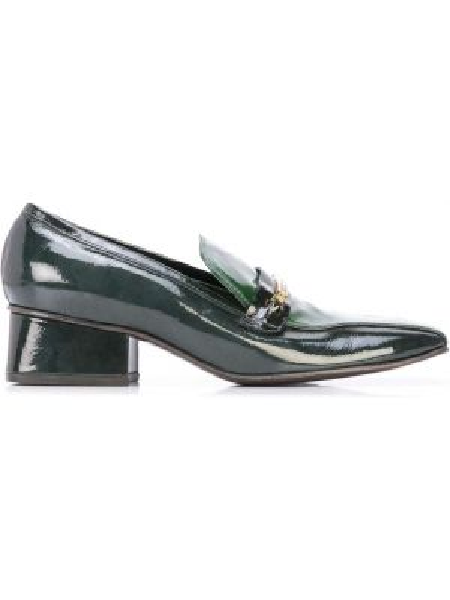 Czarne loafers skorzane Marc Jacobs