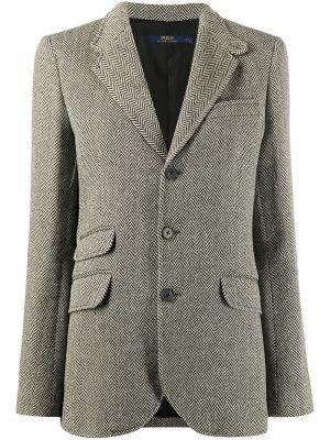 Однобортный черный пиджак с карманами на пуговицах Polo Ralph Lauren