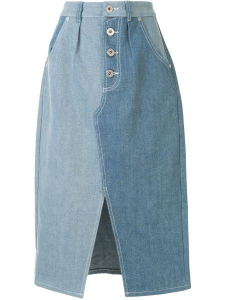 Юбка миди джинсовая на пуговицах Bapy