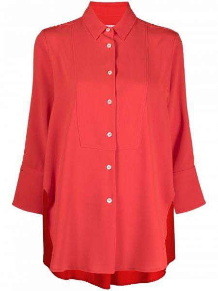 Красная рубашка классическая с воротником Alberto Biani