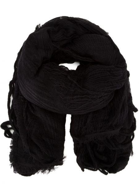 Черный нейлоновый шарф с бахромой Forme D'expression