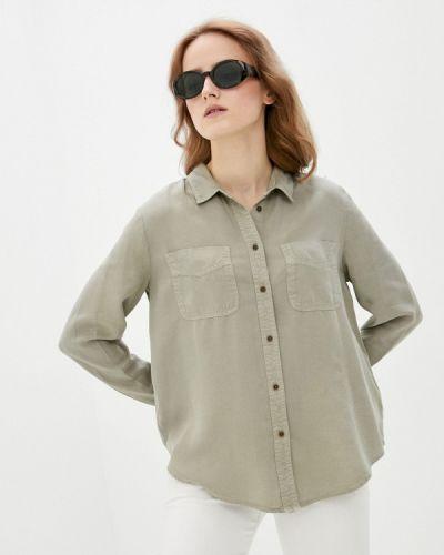 Зеленая блузка с длинными рукавами Marks & Spencer