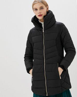 Утепленная куртка демисезонная черная Piazza Italia