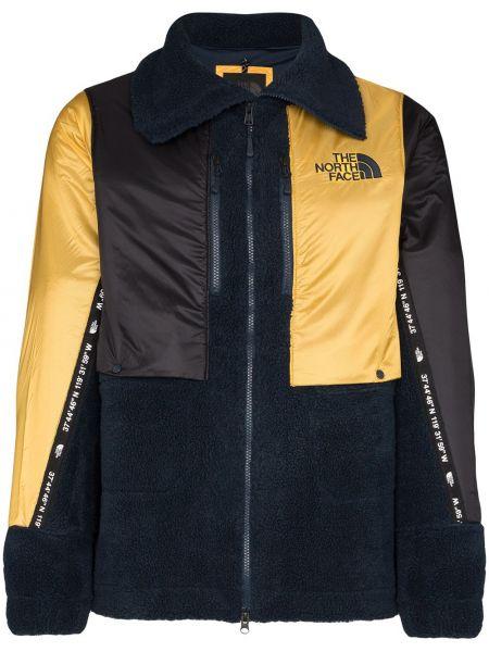Złota czarna długa kurtka z haftem The North Face Black Series