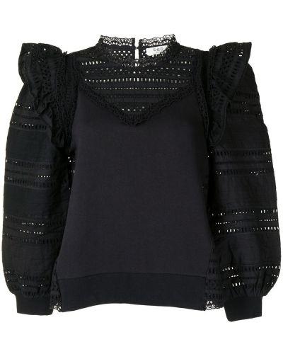 Хлопковая блузка - черная Sea