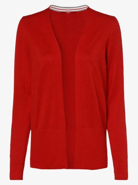 Czerwony garnitur bez zapięcia dzianinowy S.oliver