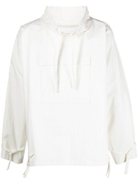 Biały pulower z długimi rękawami bawełniany Maison Margiela