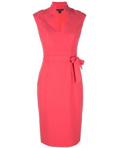 Розовое платье миди на молнии Black Halo
