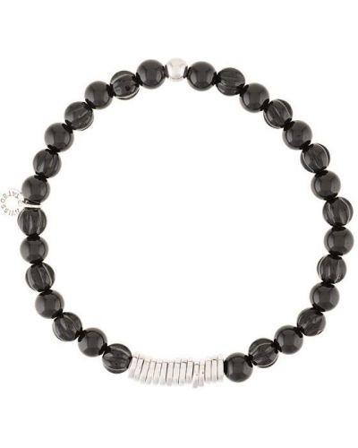 Браслет черный из серебра Tateossian