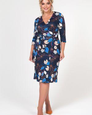 Платье с поясом с запахом на пуговицах Valentina
