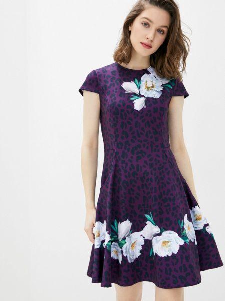 Повседневное платье фиолетовый весеннее Ted Baker London