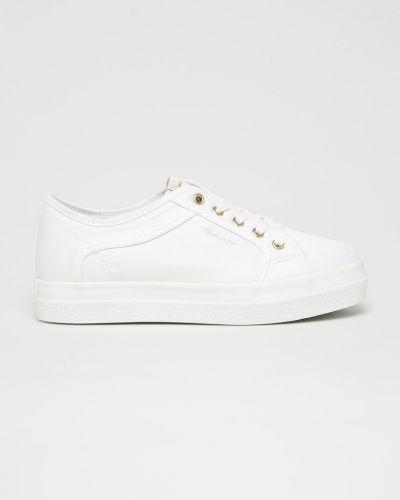 Кроссовки на платформе текстильные белый Gant