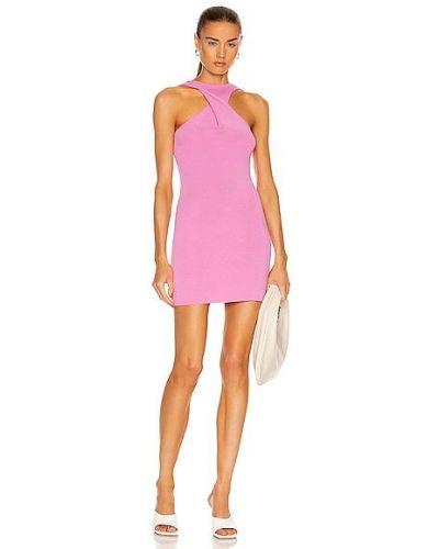 Różowa sukienka z wiskozy Atoir