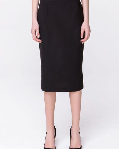 Черная плиссированная юбка мини Minimally