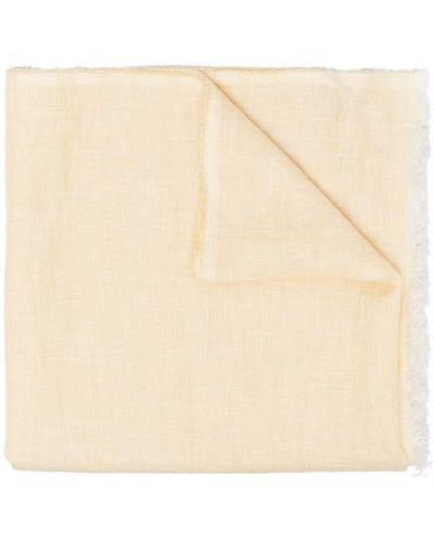 Желтый шелковый шарф с бахромой Destin